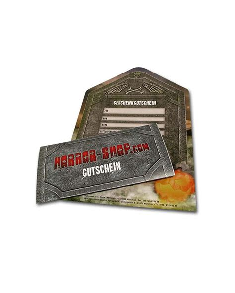 50 Gift The Shop horror shop gift voucher 50 the present for