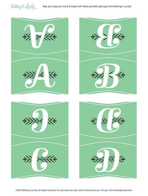 printable monogram tags 9 best images of free printable monogram gift tags