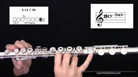 how to sharp how to play the note c sharp d flat c db on flute learn