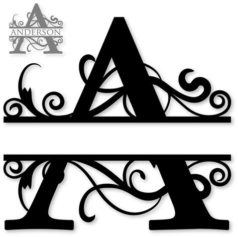 design online letters 26 best monogram split letters alphabet images on