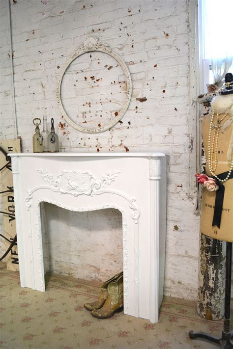 shabby chic fireplaces painted cottage chic shabby fireplace mantel pcfp 495