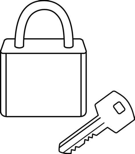 printable lock templates lock and key line free clip