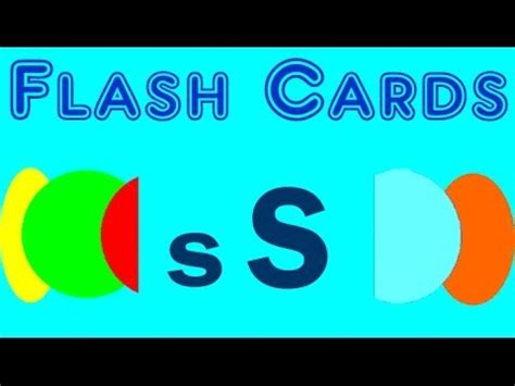 flash card maker with audio flash cards words starting with the letter s youtube