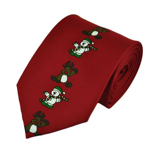 snowman reindeer novelty christmas tie from ties planet uk