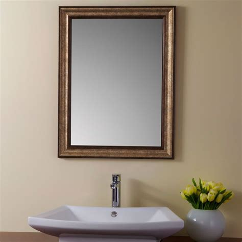wood frame bathroom mirror 24 x 32 in reversible imitation wood frame mirror yj