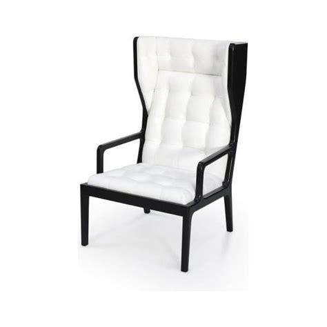 black and white armchairs james uk black and white leather wingback armchair from