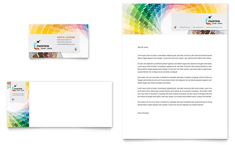 painting templates house painting contractor business card letterhead