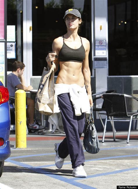 Shopping For Sports Bra by Elisabetta Canalis Goes Grocery Shopping In Sports Bra
