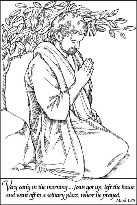 jesus praying coloring page easter celebration