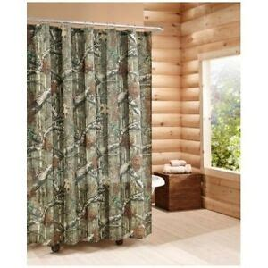 camouflage shower curtain mossy oak rustic hunter cabin