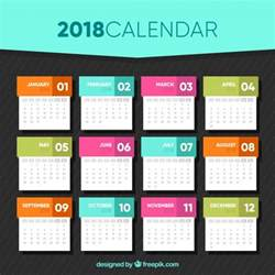 calendar design templates 2018 calendar template in flat design vector free
