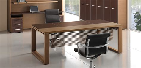 Italian Office Desk Executive Wooden Office Desk Arche By Bralco Italy