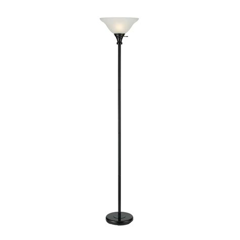 glass torchiere l shade shop cal lighting 70 in black 3 way torchiere floor l