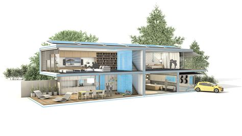 Grundriss Haus 3d by Moderne Villa Grundriss 3d Emphit