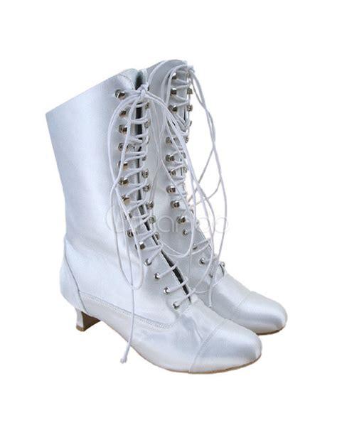 Hochzeit Winter Schuhe by Wei 223 E Damen Stiefel Mit Schn 252 Ren F 252 R Hochzeit Milanoo