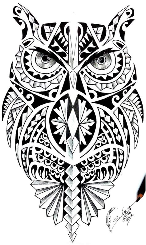 wonderful coruja maori tattoo design maori and tribal