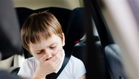 gets car sick a kid who gets car sick is hell
