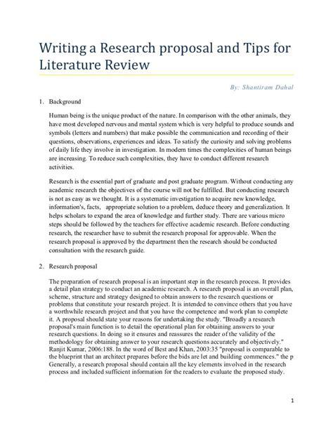 research proposal tips  writing literature review  elisha bhandari  slideshare social