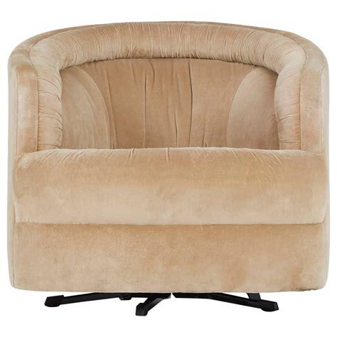 Milo Baughman Style Velvet Swivel Barrel Chair For Sale At Swivel Barrel Chairs For Sale