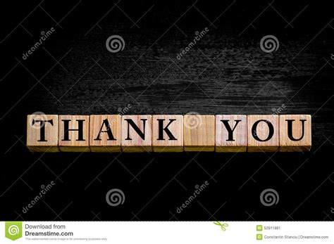 Thank You Letter Background message thank you isolated on black background stock image