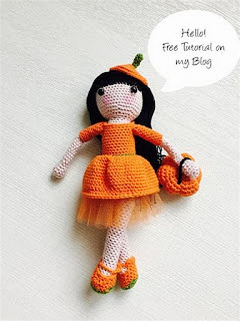 adorable  autumn doll  crochet pattern photo