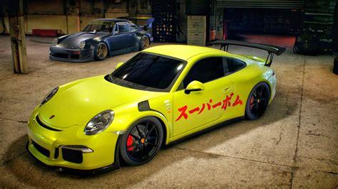 porsche gt3 rs yellow need for speed car video games garages porsche