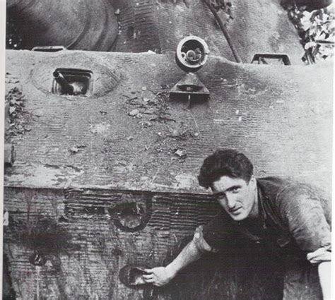 pershing vs tiger germany the original photo shows gefreiter walter junge showing off battle damage on his tank which