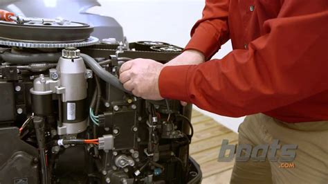 change  thermostat   outboard engine youtube
