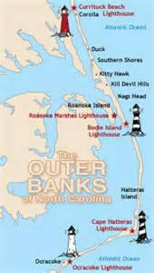 lighthouses in carolina map planet outer banks