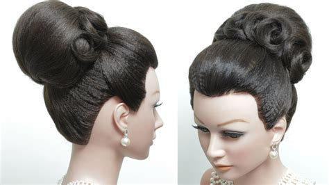 High Hairstyles by Bridal Hairstyle For Hair Tutorial Classic High Bun