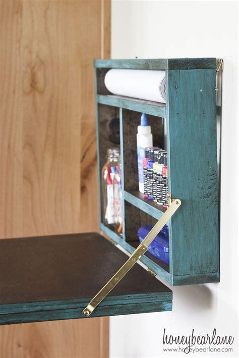 fold down desk hardware painted fold down desk honeybear lane