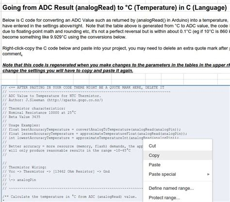 ntc thermistor exle a spreadsheet that calculates thermistor 28 images ntc thermistors and you converting an adc