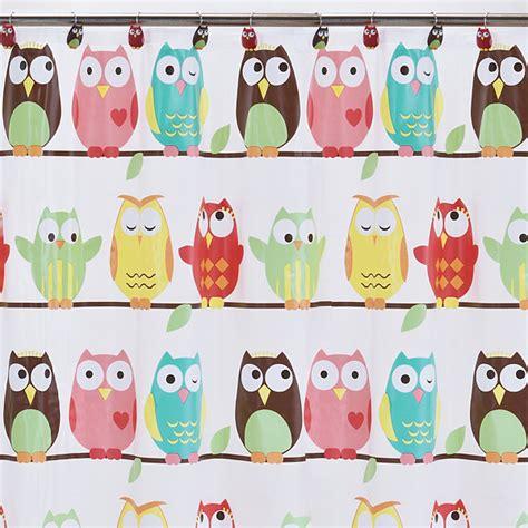 owl peva shower curtain owls peva shower curtain