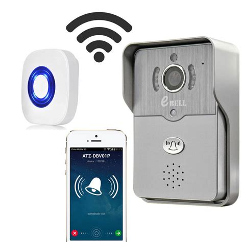 doorbell with and wifi ebell hd wireless doorbell w indoor chime