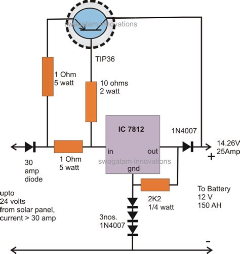 transistor lm317 high current transistor tip36 datasheet application note circuit diagram centre