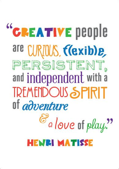 Flying On The Be Creative And Inovatif Penerbit inspirational quotation poster henri matisse free early years primary teaching resources
