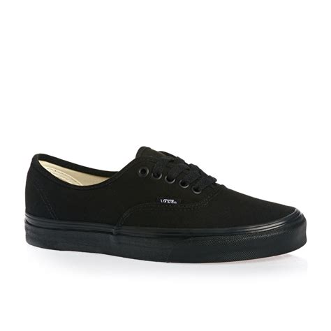 vans authentic shoes black free uk delivery on all orders