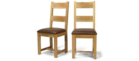 Oak Dining Chair Constance Oak Dining Chairs Pair Quercus Living