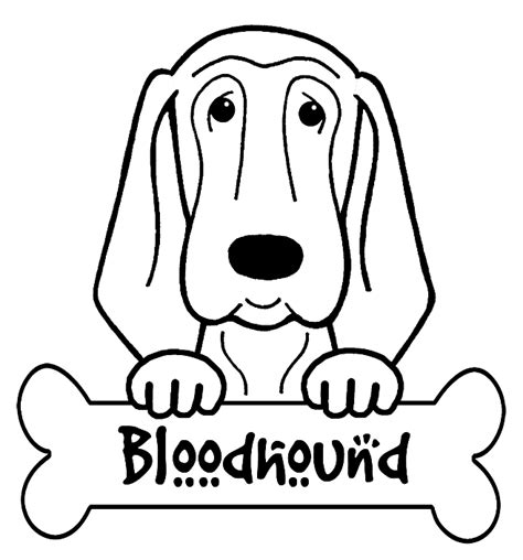Bloodhound Coloring Pages free vires coloring pages