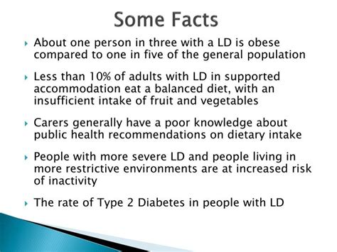 weight management learning disabilities ppt strategic health authority learning disability