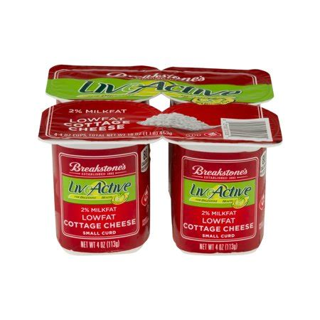 Breakstone Liveactive Cottage Cheese by Breakstone S Cottage Cheese 2 Milkfat Lowfat 4 Ct