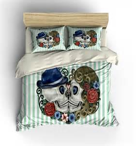 sugar skull bedding duvet cover set forever more