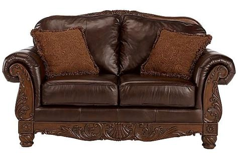 north shore sofa and loveseat the north shore dark brown loveseat from ashley