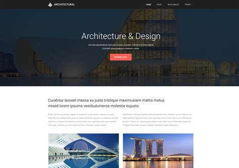 templates for architecture website architecture website templates free download ease template
