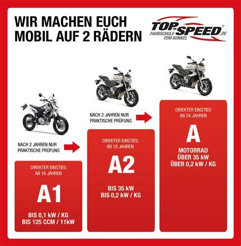 Motorrad Führerschein Von A1 Auf A2 by Stufenf 252 Hrerschein Motorrad Top Speed Fahrschule