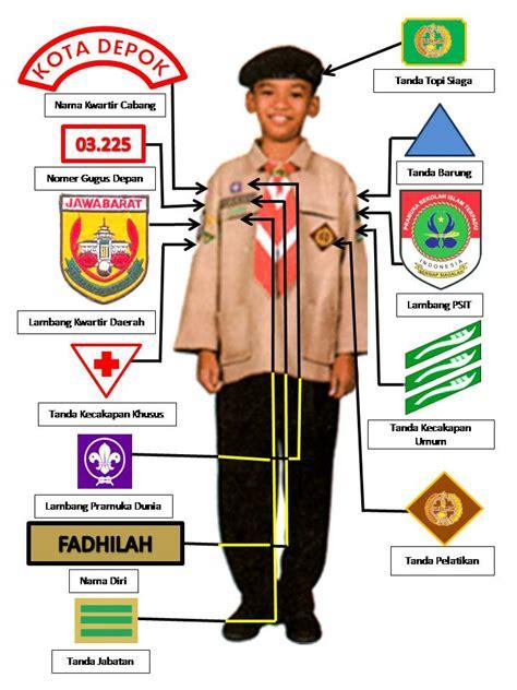 Atribut Baju Pramuka Putra pemasangan tanda atribut pramuka sit resmi satuan