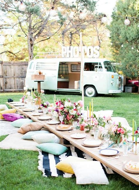 backyard picnic ideas 25 fun outdoor picnic wedding ideas to copy deer pearl