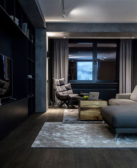ukrainian apartment interiors musician twilight atmosphere in a contemporary home by yodezeen