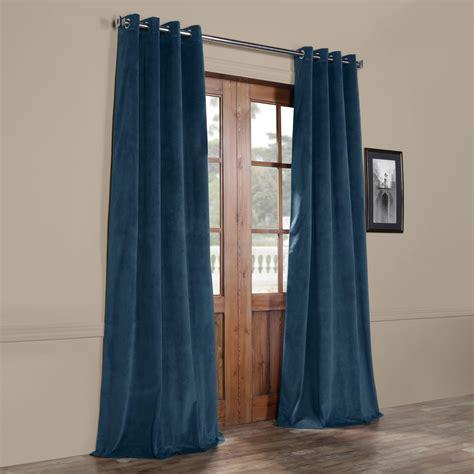 velvet curtains blackout signature twilight blue grommet blackout velvet curtain