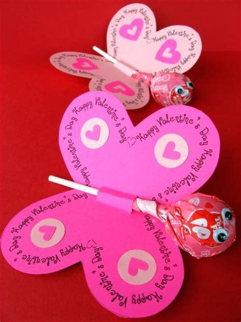 valentines cards cool cards lollipop butterflies